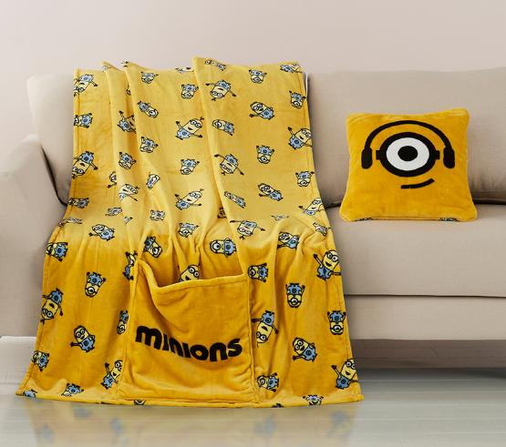 神偷奶爸小黄人多用抱枕绒毯